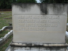 Her Life Was Simple, Augusta, Georgia, June 2007, photo © 2008 by QuoinMonkey. All rights reserved