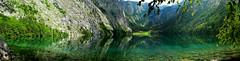 Obersee (cesargp) Tags: panorama mountain lake reflection verde green lago fz20 panoramic reflejo alemania montaa konigsee obersee