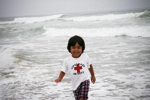 Justin at the ocean