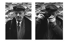 Allen Ginsberg, Galway, 1995 (Skyroad) Tags: leica ireland blackandwhite galway festival 35mm reading diptych poetry arts beat poet writer nikonf3 howl allenginsberg blackandwhitephotography beatgeneration nunsisland portraitphotography americanpoet cirt markgranierportfolio