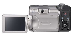 Canon Powershot A650 IS -- Rear View with articulating LCD fully opened