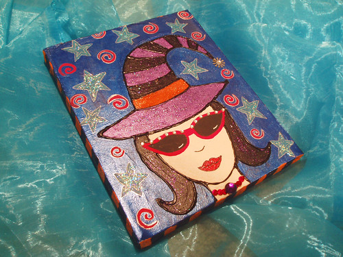 cute witch canvas