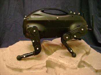 military robot dog used as an assistant