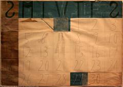 documenta 12 | Tanaka Atsuko / Kalender | 1954 | Neue Galerie