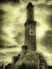 Lanterna (klausthebest) Tags: columbus italy lighthouse sepia clouds faro nuvole searchthebest harbour pirates liguria genoa genova porto empire frigate lanterna colombo italians galley galea wonderworld galeon supershot 10faves mywinners holidaysvacanzeurlaub superbmasterpiece navalfortress theunforgettablepictures proudshopper theperfectphotographer tup2