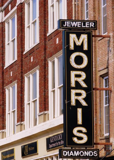 Morris Jewelry neon sign