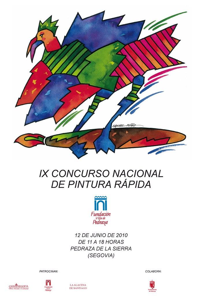 Cartel IX Concurso Nacional de Pintura Rápida
