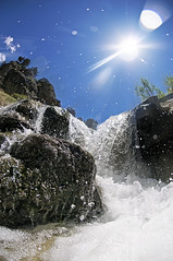 Sparkles (Scott Barlow) Tags: family blue camping camp sky hot water kids creek forest fun utah waterfall nikon uinta raw nef beware relaxing fork hike diamond fisheye national springs campout nikkor f28 fifth nudists d300 105mm spanishfork