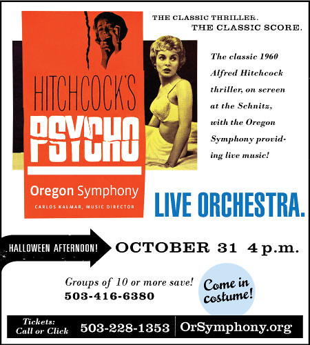 Win Tickets: Oregon Symphony Halloween Event | Hitchcock's Psycho @ Arlene Schnitzer