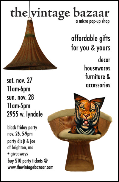 The Vintage Bazaar Pop-up Shop November 26-29