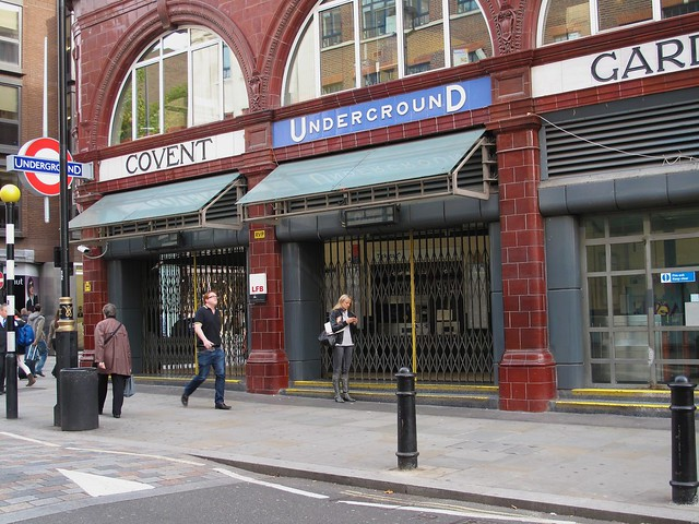 Closed Covent Garden Station