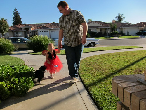 Lily and Daddy trick or treating