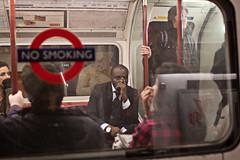 (Che-burashka) Tags: street morning people london train underground advertising gloomy metro tube places londonist ef28mm insidethetrain canonef28mmf18usm insidethecarriage