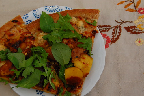 acorn squash and gorgonzola pizza