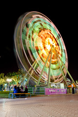 Spinning Ferris Wheel - Oman (Marah Land) (Rashed Al Naamani) Tags: wheel canon ferris spinning land oman marah  50d