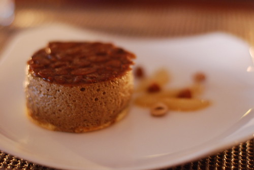 Brown Ale Mousse, Almond Cake and Almond Toffee