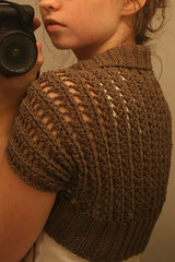 advice (kelly   m) Tags: knitting lace knit wip rib shrug eyelet taupe bolero