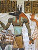Ancient Egyptian wall painting depicting Anubis (ggnyc) Tags: nyc newyorkcity tomb egypt offering wallpainting metropolitanmuseumofart tempera anubis ancientegypt egyptology egyptianart