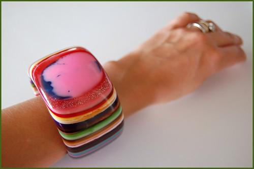 recycled acrylic bracelet