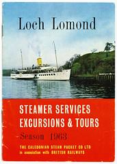 Loch Lomond Steamer Sailings 1963 (Hugh Spicer / UIsdean Spicer) Tags: calmac lochlomond paddlesteamer balmaha maidoftheloch caledoniansteampacket