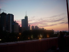 View from balcony at Navy Pier @ BlogHer Saturday party