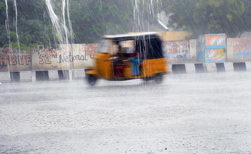 rickshaw rain