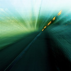 green motion (limerickdoyle) Tags: longexposure abstract slowshutter greenroad canon400d greenabstract senseofmotion greenmotion