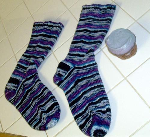 Bruise Socks & Crumbs Cupcake