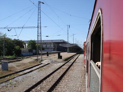 Ankunft am Bahnhof in Sofia