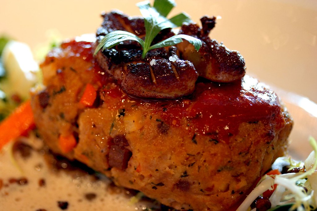 Close up of the Mini Foie Gras Meatloaf