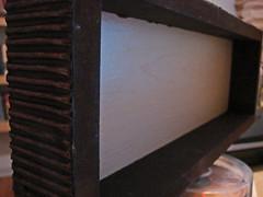 little shelf:  finished! (stinkycretingurl) Tags: recycle remake upcycle
