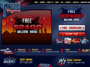 Pure Vegas Casino Home