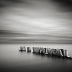 Whitefish Point Groynes: Study I (Jeff Gaydash) Tags: longexposure blackandwhite water square seascapes michigan jetty greatlakes upperpeninsula groyne lakesuperior whitefishpoint lakescapes nd110
