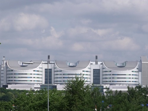 Queen Elizabeth Hospital Birmingham from Selly Oak Triangle