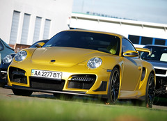 Techart GT Street R (Philipp Lcke) Tags: techart porsche tuning rs gtstreet mattgold luxury money gold ukraine politics