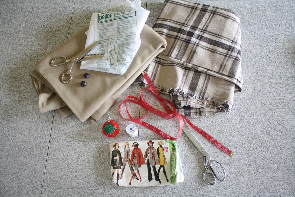 sewing saturday.. making a winter wool cape
