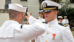 First Salute (US Navy) Tags: uniform military ceremony militar sailor usnavy oficial officer rotc uniforme marinero unitedstatesnavy