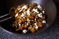 Spiced Squash Salad with Lentils and Goat Cheese