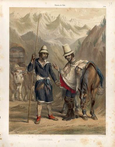 020-Carretero y capataz-Atlas de la historia física y política de Chile-1854-Claudio Gay