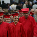 Board of Trustees in red robes at Commencement