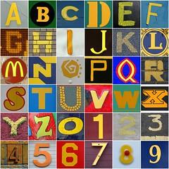 Yellow letters and numbers (Leo Reynolds) Tags: fdsflickrtoys photomosaic alphabet alphanumeric abcdefghijklmnopqrstuvwxyz abcdefghijklmnopqrstuvwxyz0123456789 hpexif groupfd groupphotomosaics mosaicalphanumeric xintx xratio11x xleol30x xphotomosaicx
