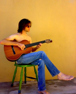 Alan and guitar.  Acoustic this time.
