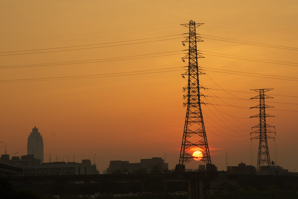 Pylon and sunrise~~