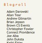 Blogroll @ Providence Geeks