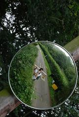 DSC_5578 - Warning: Overhanging Mirror (Anyhoo) Tags: road uk school portrait england distortion selfportrait man reflection male guy me tarmac mirror surrey hedge lane barrier godalming charterhouse anyhoo charterhouseschool photobyanyhoo