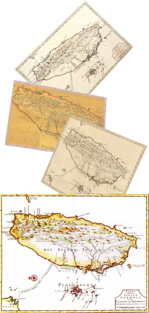 無限台南-台灣古地圖1636年-1