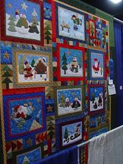 TWTME State Fair Christmas Quilt/Block (picsbyrita) Tags: christmas quilt august quiltblock christmasquilt twtmecreativechallengemosiac 2007kentuckystatefair