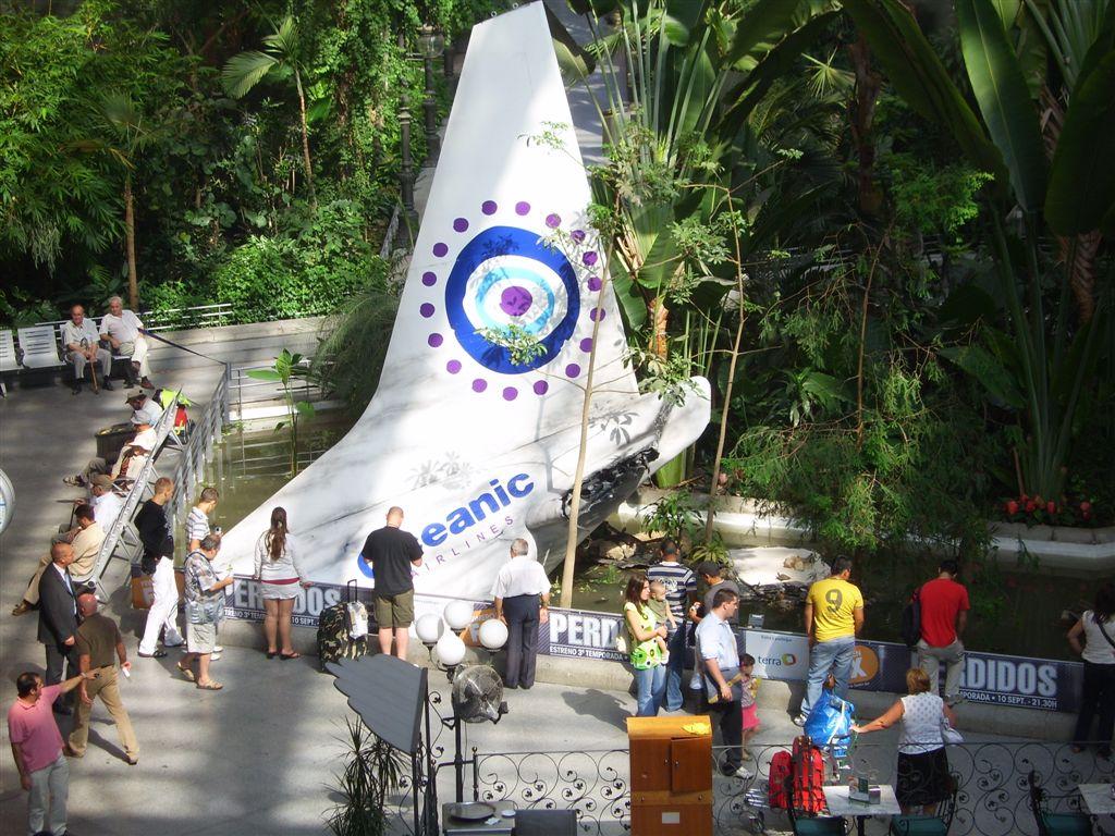 cola del avión de Lost (perdidos) en Atocha
