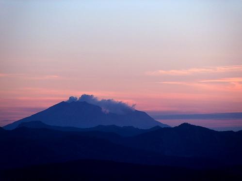 50-Mt St Helens Sunset