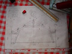 This is the original plan for the roof beams